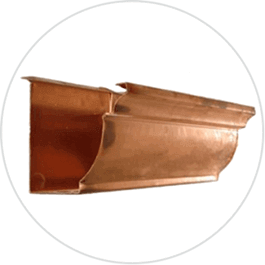copper gutters in Victoria Texas